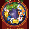 Jet Set Solitaire Holiday Wreath Badge
