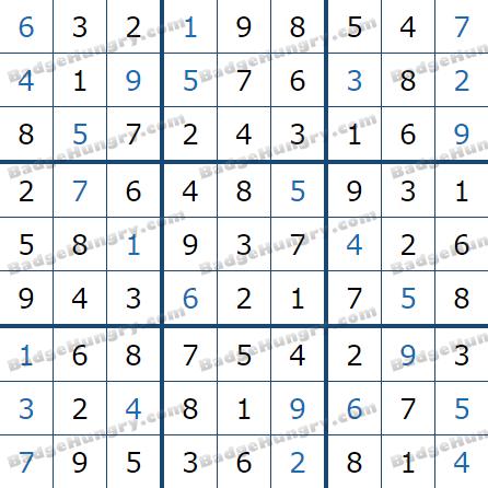 Pogo Daily Sudoku Solutions: December 23, 2020
