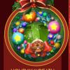 Pogo Mini-Golf Holiday Wreath Badge