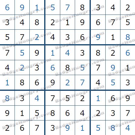 Pogo Daily Sudoku Solutions: December 24, 2020