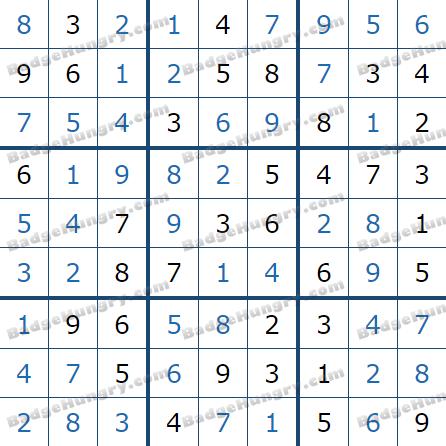 Pogo Daily Sudoku Solutions: December 25, 2020