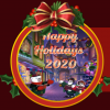 Free Gift: Snowbird Solitaire Holiday Village Carol Holiday Wreath Badge