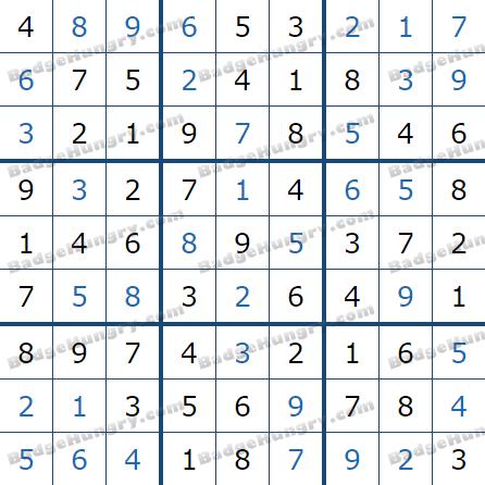 Pogo Daily Sudoku Solutions: December 30, 2020