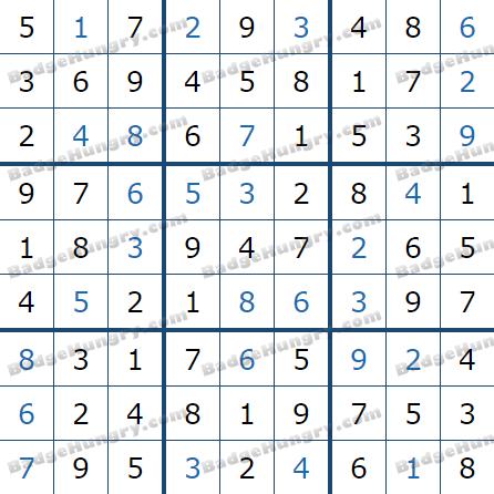 Pogo Daily Sudoku Solutions: December 31, 2020