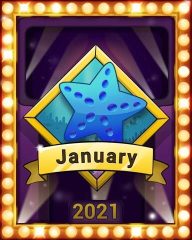 January 2021 Game of the Month Quinn's Aquarium Badge