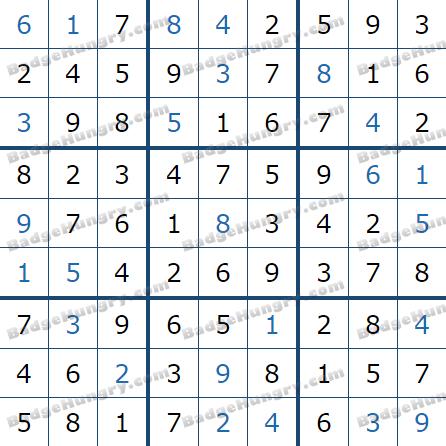 Pogo Daily Sudoku Solutions: January 1, 2021