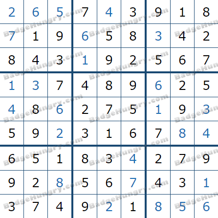 Pogo Daily Sudoku Solutions: January 2, 2021