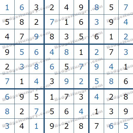 Pogo Daily Sudoku Solutions: January 4, 2021