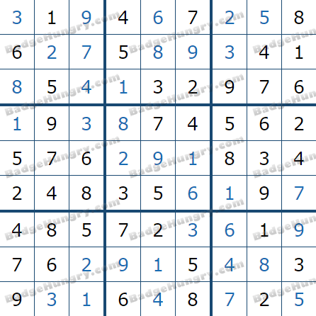 Pogo Daily Sudoku Solutions: January 5, 2021