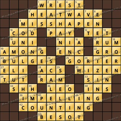 Crossword Cove HD Solution: January 6, 2021