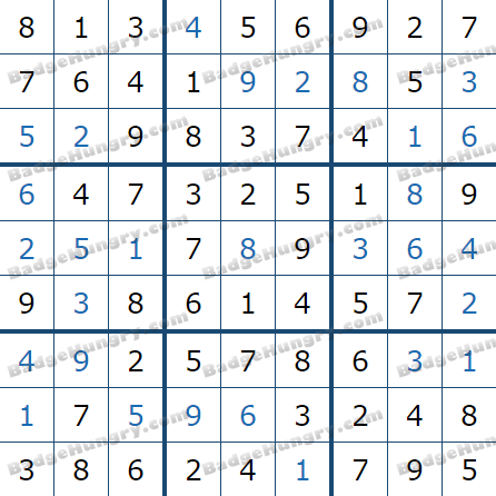 Pogo Daily Sudoku Solutions: January 7, 2021