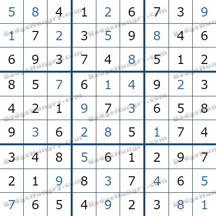 Pogo Daily Sudoku Solutions: January 8, 2021