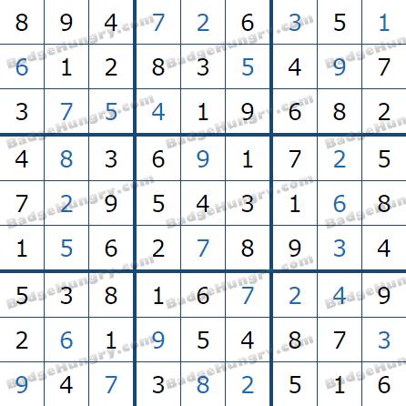 Pogo Daily Sudoku Solutions: January 11, 2021