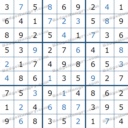 Pogo Daily Sudoku Solutions: January 12, 2021