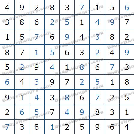 Pogo Daily Sudoku Solutions: January 13, 2021