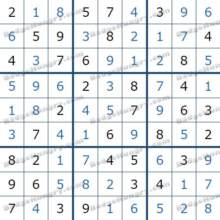 Pogo Daily Sudoku Solutions: January 14, 2021