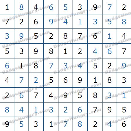 Pogo Daily Sudoku Solutions: January 16, 2021