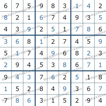 Pogo Daily Sudoku Solutions: January 17, 2021
