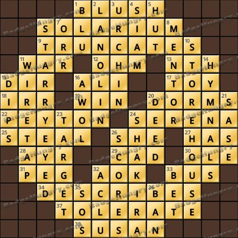 Crossword Cove HD Solution: January 17, 2021