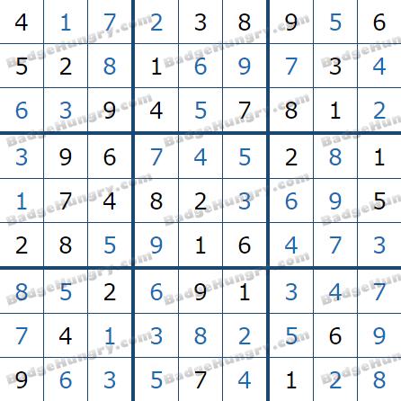 Pogo Daily Sudoku Solutions: January 19, 2021