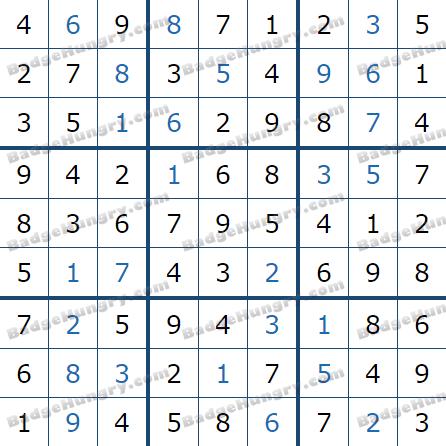 Pogo Daily Sudoku Solutions: January 20, 2021