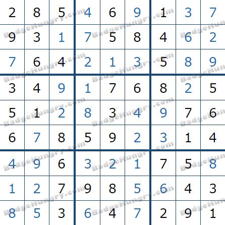 Pogo Daily Sudoku Solutions: January 25, 2021