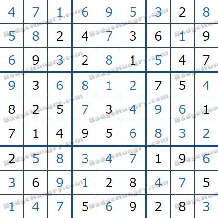 Pogo Daily Sudoku Solutions: January 26, 2021