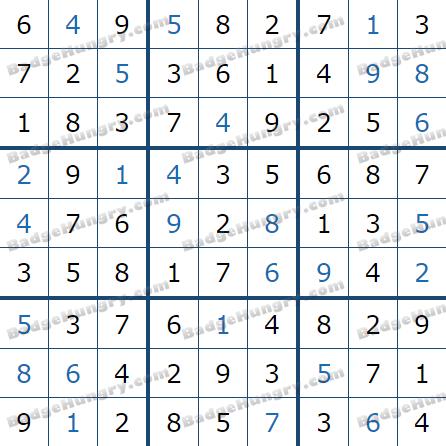 Pogo Daily Sudoku Solutions: January 28, 2021