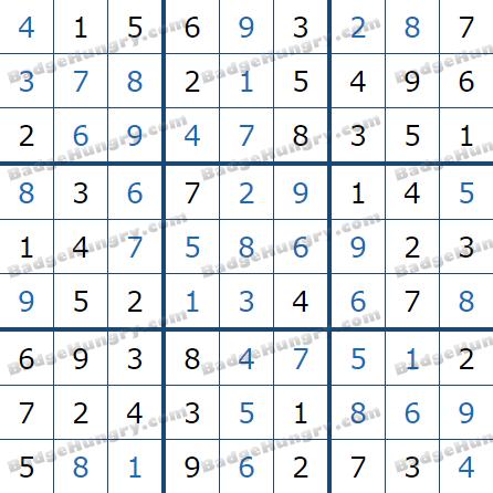 Pogo Daily Sudoku Solutions: January 29, 2021