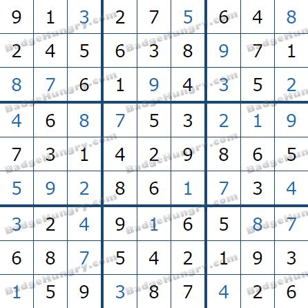 Pogo Daily Sudoku Solutions: February 1, 2021