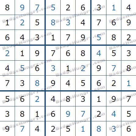 Pogo Daily Sudoku Solutions: February 2, 2021