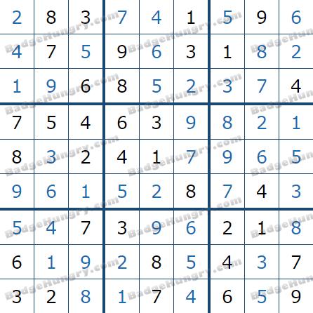 Pogo Daily Sudoku Solutions: February 5, 2021