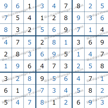 Pogo Daily Sudoku Solutions: February 7, 2021
