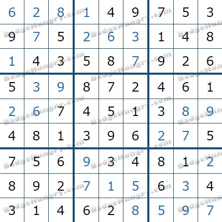 Pogo Daily Sudoku Solutions: February 10, 2021