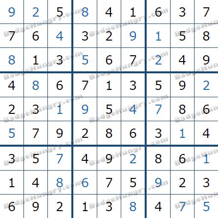 Pogo Daily Sudoku Solutions: February 13, 2021
