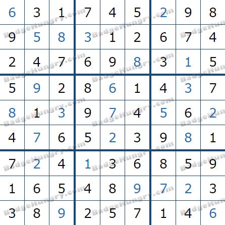 Pogo Daily Sudoku Solutions: February 15, 2021