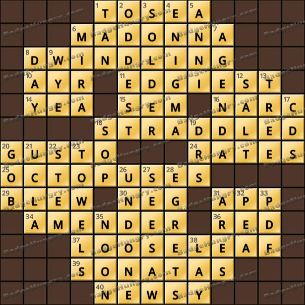 Crossword Cove HD Solution: February 17, 2021