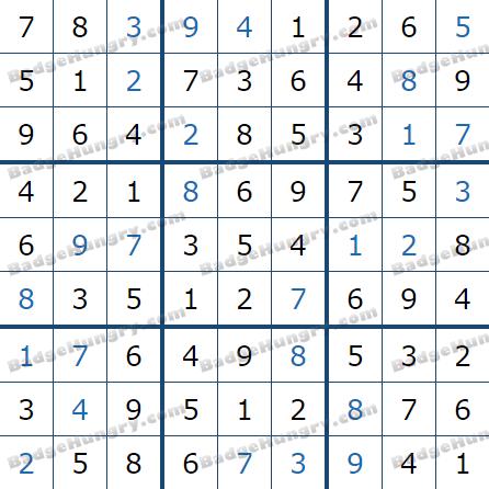 Pogo Daily Sudoku Solutions: February 18, 2021