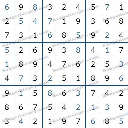 Pogo Daily Sudoku Solutions: February 19, 2021