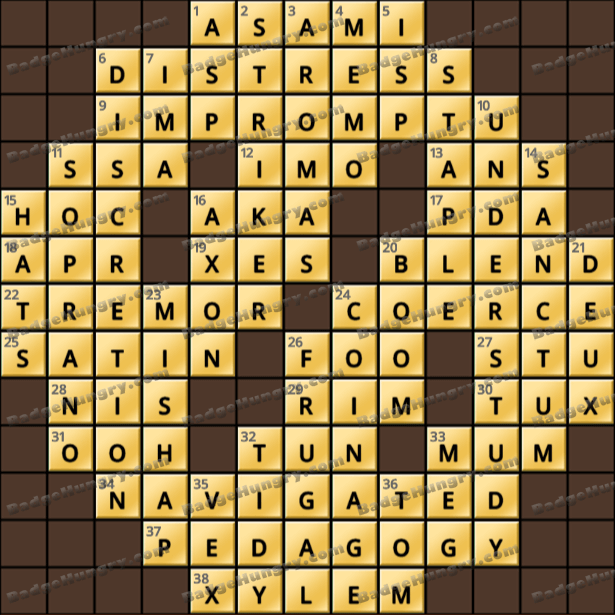 Crossword Cove HD Solution: February 19, 2021