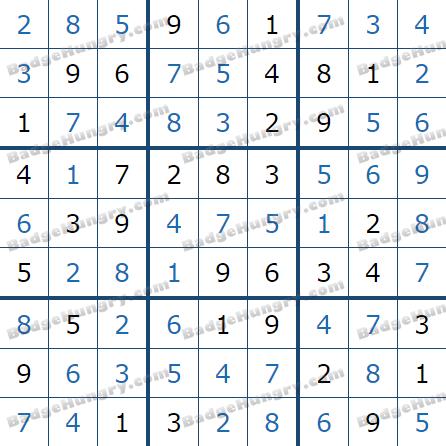Pogo Daily Sudoku Solutions: February 20, 2021