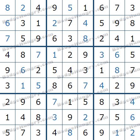Pogo Daily Sudoku Solutions: February 23, 2021