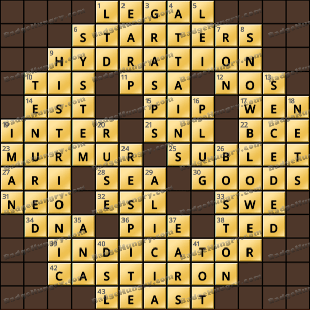 Crossword Cove HD Solution: February 23, 2021
