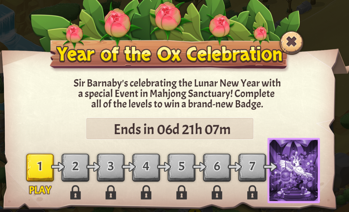 Mahjong Sanctuary: Year of the Ox Celebration Event