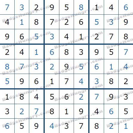 Pogo Daily Sudoku Solutions: February 24, 2021