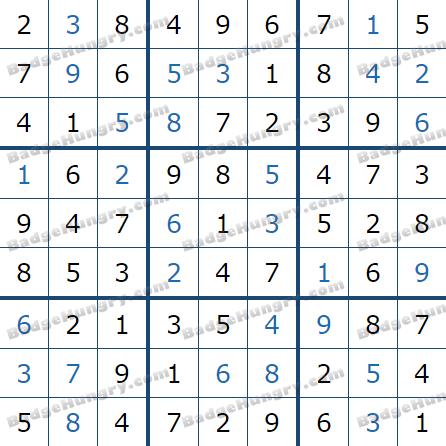 Pogo Daily Sudoku Solutions: February 25, 2021