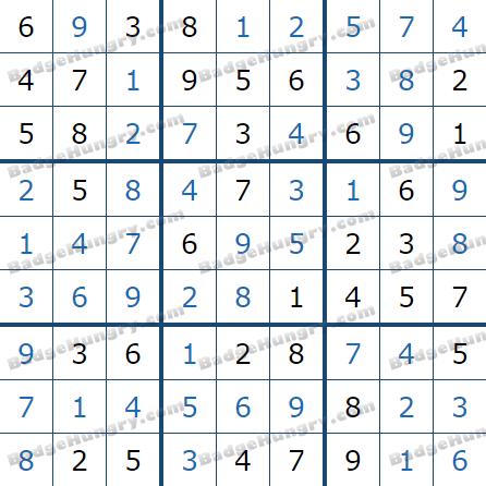 Pogo Daily Sudoku Solutions: February 26, 2021