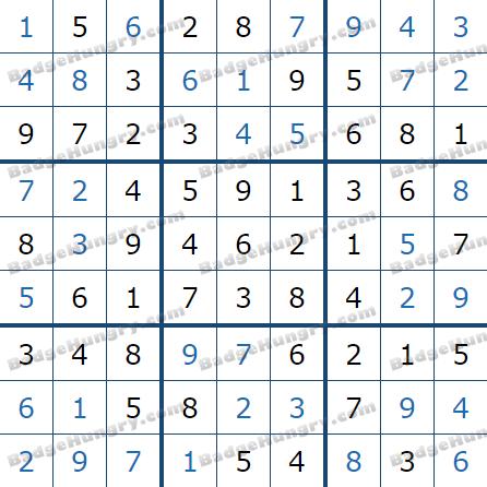 Pogo Daily Sudoku Solutions: February 27, 2021