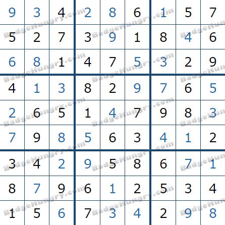 Pogo Daily Sudoku Solutions: February 28, 2021