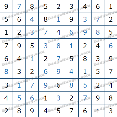 Pogo Daily Sudoku Solutions: March 1, 2021